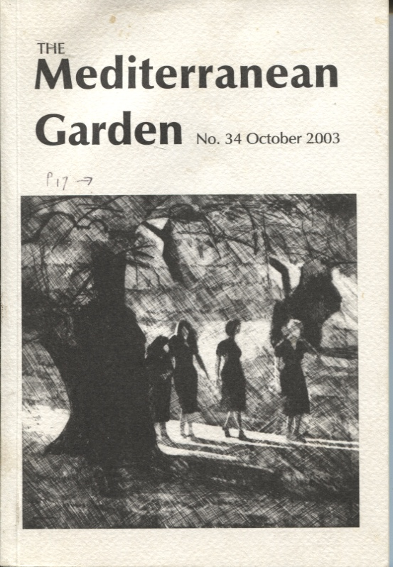 Image for THE MEDITERRANEAN GARDEN : NO.34 OCTOBER 2003 A Journal for Gardeners in all the Mediterranean Climate Regions of the World