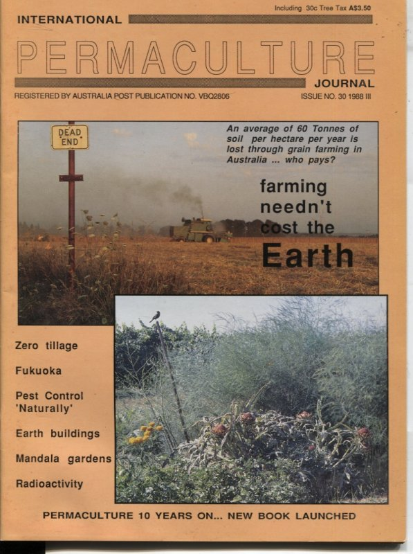 Image for INTERNATIONAL PERMACULTURE JOURNAL Issue #30 1988 Earth Issue