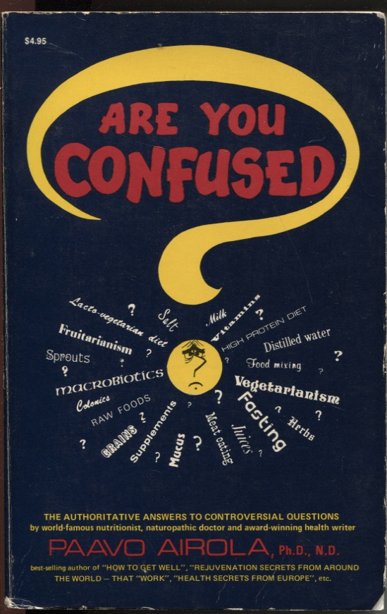 Image for Are You Confused? De-Confusion Book on Nutrition & Health, with the Latest Scientifis Research and Authoritative Answers to the Most Controversial Questions